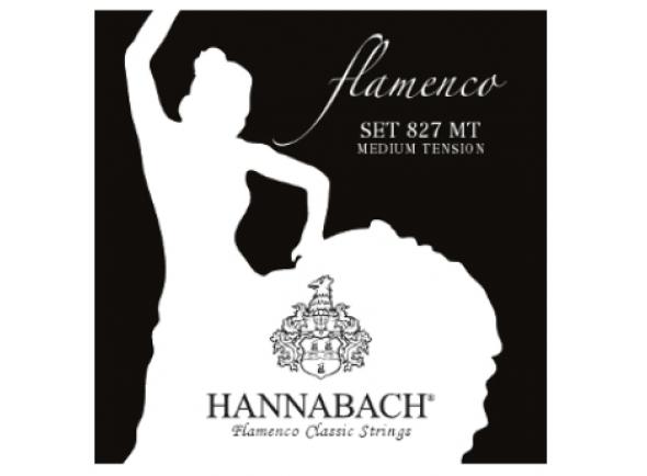 Cordas Guitarra Flamenco/Jogos de cordas para guitarra clássica  Hannabach 827 MT Flamenco Black