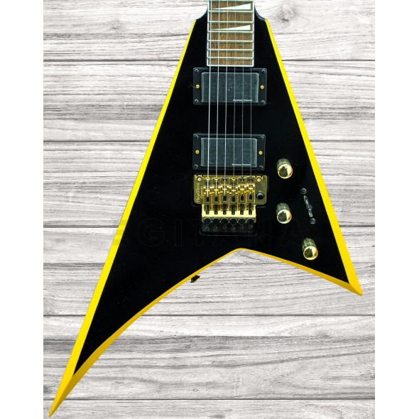 Outros formatos Jackson RRX24 Black w/Yellow Bevels
