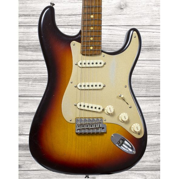 Guitarras formato ST Fender Custom Shop Limited Edition '58 Special Strat Journeyman Relic Chocolate  3-Color Sunburst