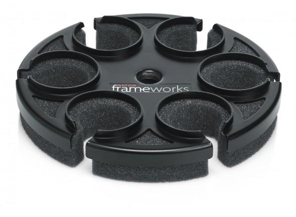 Suporte para microfone Gator Frameworks GFW-MIC-6TRAY Suporte 6 Micro