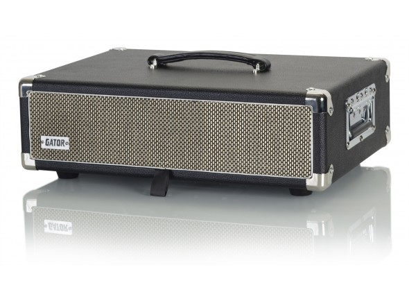 Cases Gator GR-RETRORACK-2BK Vintage Amp Vibe Rack Case - 2U Black