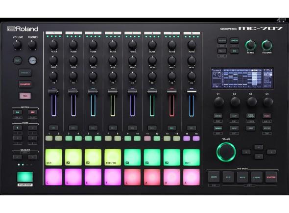 Sintetizadores e Samplers/Sequenciadores de ritmos Roland MC-707 Caixa de Ritmos GROOVEBOX