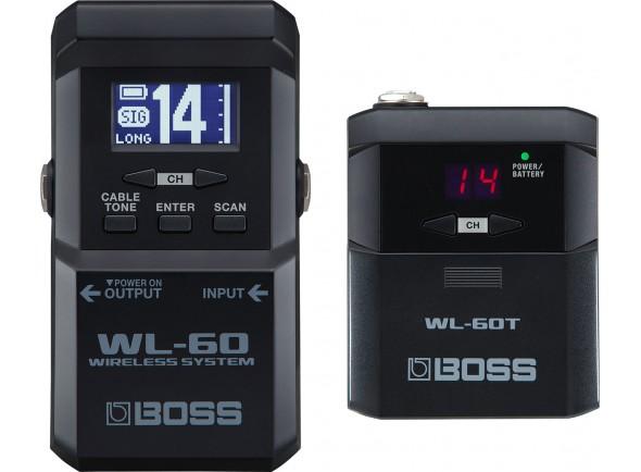 Sistema sem fios para guitarra/Sistemas sem fio para guitarra e baixo BOSS WL-60 Wireless System
