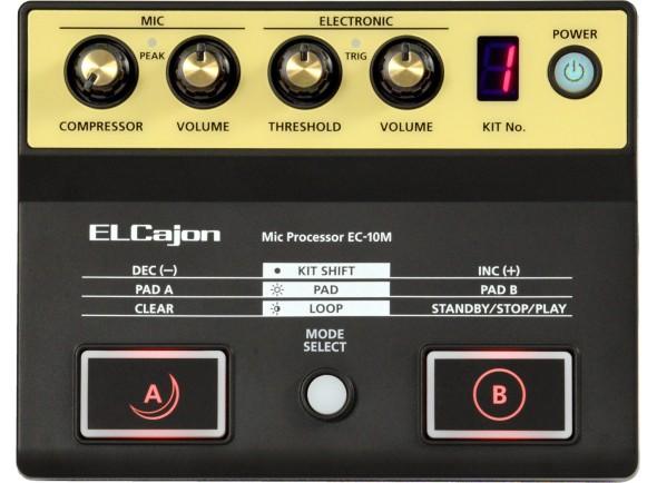 Cajón Roland EC-10M EL Cajon Processador com Microfone incluido