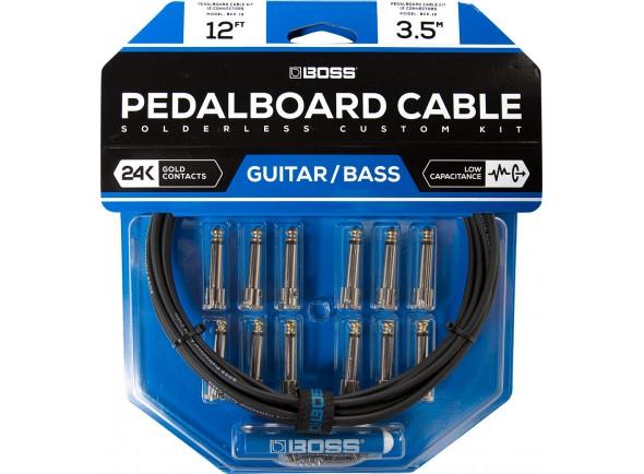 Cabo para pedais de efeitos/Cabo para Instrumento BOSS BCK-12 Solderless Pedalboard Cable Kit 3.5m
