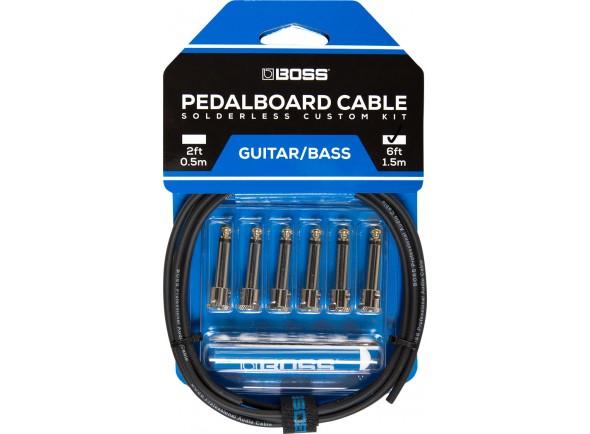 Cabo de guitarra / baixo/Cabo para Instrumento BOSS BCK-6 Solderless Pedalboard Cable Kit 1.5m