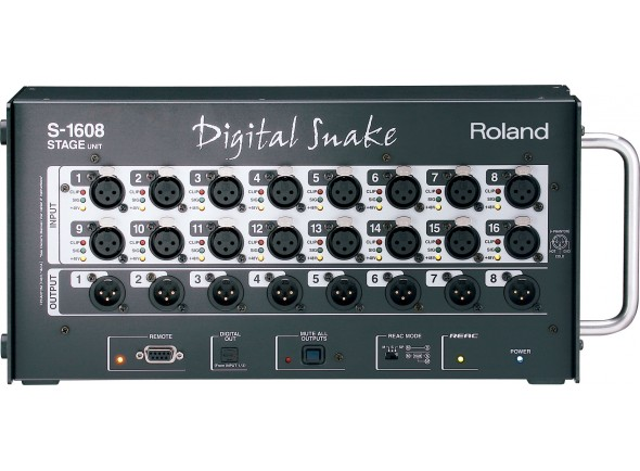 Multipar digital/Mesas de mistura digitais Roland S-1608 Stagebox 16 IN / 8 OUT para Roland M-300