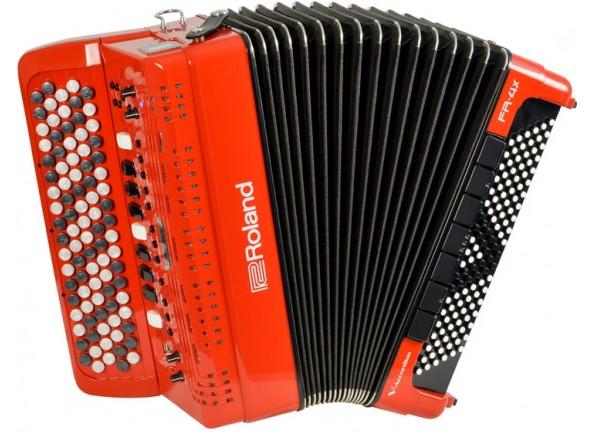 Acordeão Electrónico de Botões/Acordeão Roland FR-4XB RD Botões Vermelho