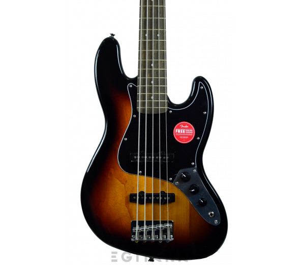 Baixo de 5 Cordas Fender Squier Affinity Jazz Bass V Laurel Fingerboard 3-Color Sunburst