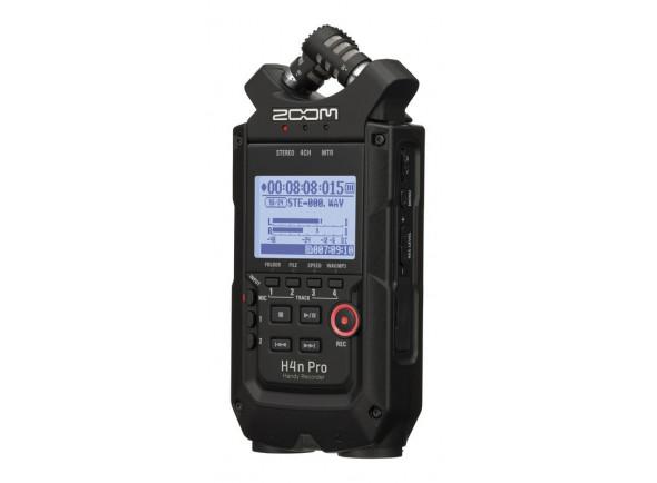 Gravador de áudio portátil e interface USB/Gravadores Portáteis Zoom H4n Pro Black