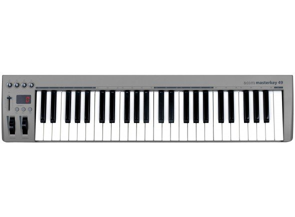Teclados MIDI Controladores Acorn Masterkey 49   49 Teclas sensíveis à velocidade tipo sintetizador  Oitava cima/baixo   Transposição cima/baixo