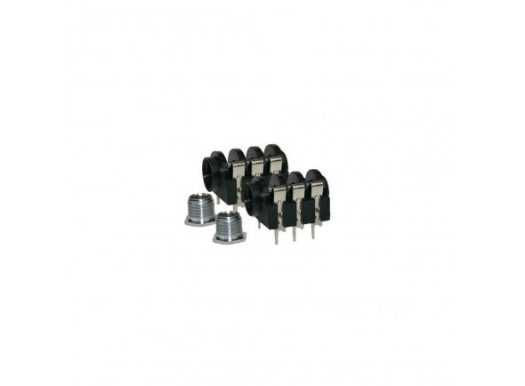 Fichas Jack de 6.3mm (macho e fêmea) Adam Hall 7203 TP PCB02 6,3mm Jack mono