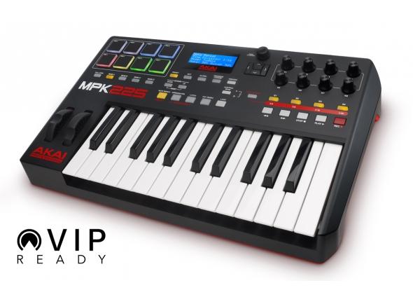 Controladores de teclados MIDI Akai MPK 225