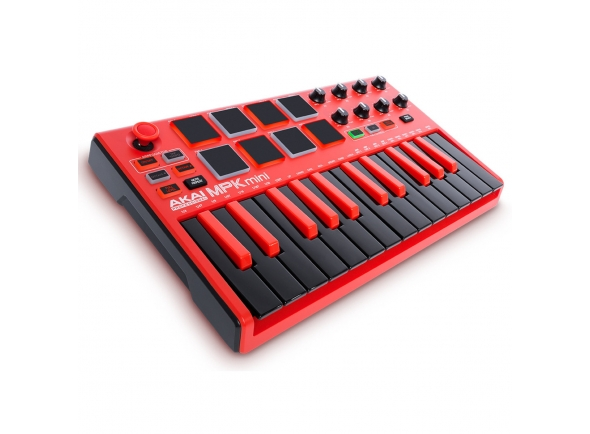 Teclados MIDI Controladores Akai MPK Mini MK 2 Limited Edition Red