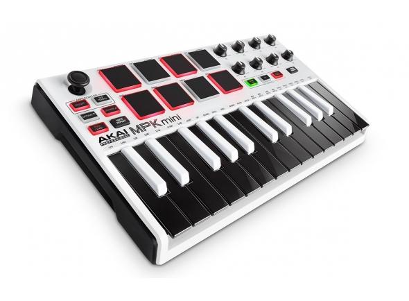 Teclados MIDI Controladores Akai MPK mini Mk2 white