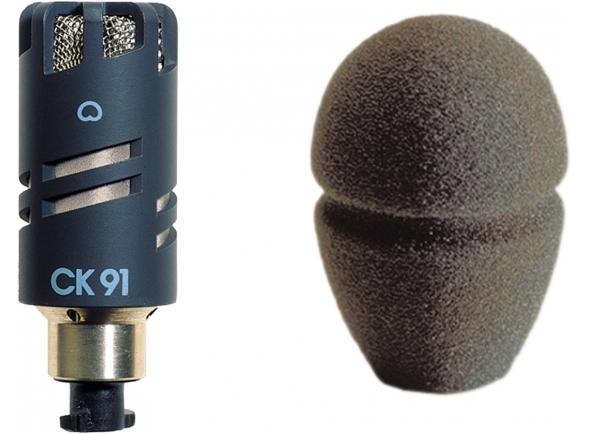 Microfone condensador membrana pequena AKG CK 91