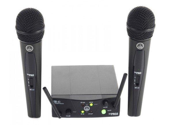 Ver mais informações do Sistema sem fios com microfone de mão AKG WMS40 Mini DUAL Vocal
