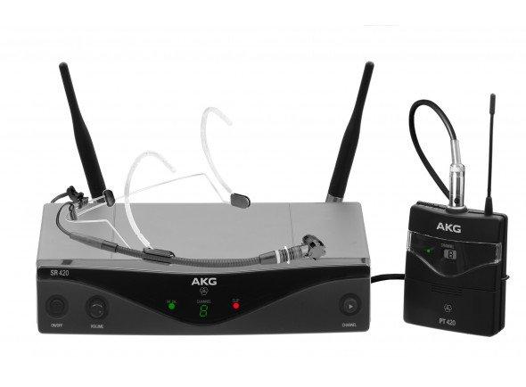 Sistema sem fio com microfone de cabeça/Sistema sem fio com microfone de cabeça AKG WMS420 Sport Set