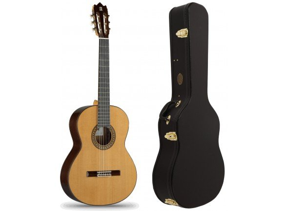Guitarra Clássica (adulto) 4/4 Alhambra 4P Pack  Pack Alhambra 4P + Estojo