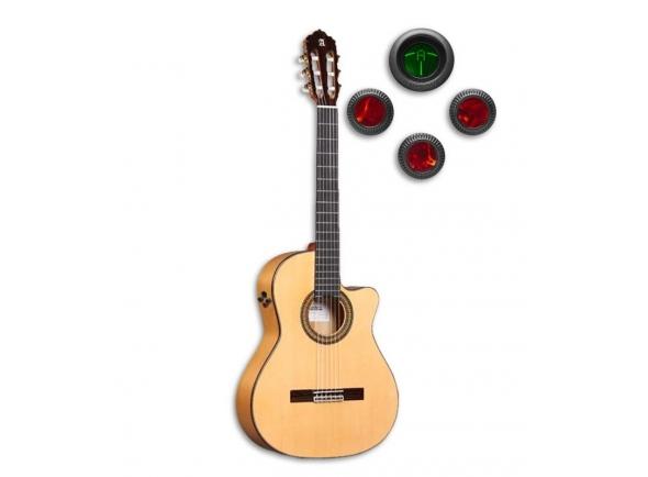 Guitarra de Flamenco/Guitarra Clássica Alhambra 7P A CW E8