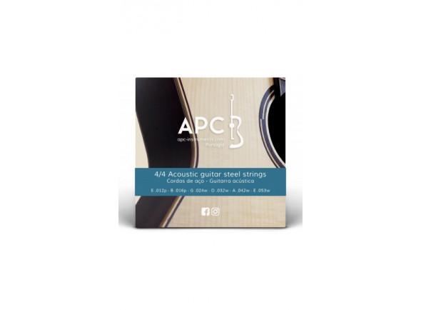 Cordas para Guitarra Acústica/Jogo de cordas .012 APC  Cordas - Guitarra Acústica - FOLK (AÇO)
