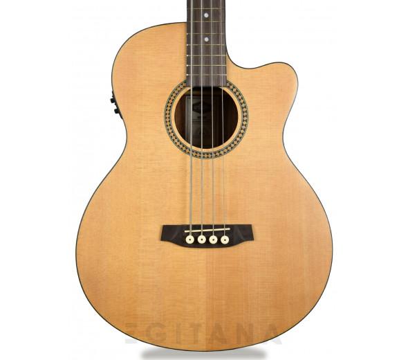 Guitarra Baixo semi-acústico de 4 cordas/Baixos acústicos de 4 cordas Ashton  ACB 400CEQ NTM