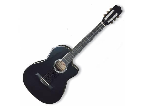 Guitarra Clássica (adulto) 4/4 Ashton CG44CEQ BK - Black  Guitarra Clássica 4/4 Ashton CG44CEQ BK - Black