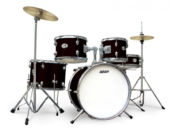 Conjunto de bateria completo Ashton Joey Drum Black