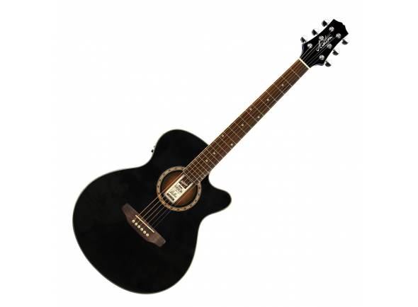 Mini-Jumbo/Guitarras Folk Ashton SL29CEQ Slim Line BK - Black