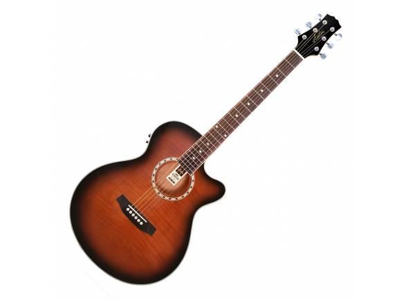 Guitarras Folk Ashton SL29CEQ Slim Line TSB - Tobacco Sunburst