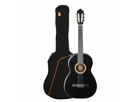 Guitarra Clássica (adulto) 4/4 Ashton SPCG44 Black  Guitarra Clássica SPCG44 Preta com Saco