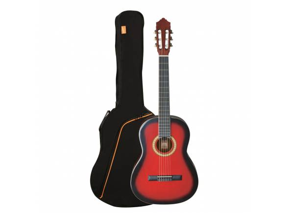 Guitarra Clássica Ashton SPCG44 TRB (Transparent Red Burst)