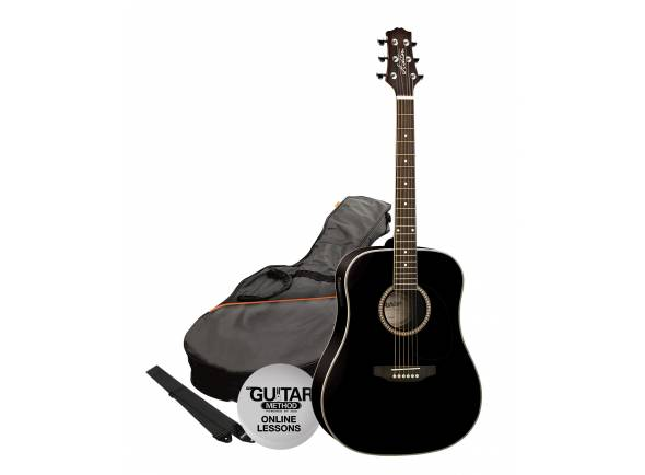 Guitarra Acústica/Guitarras Dreadnought Ashton SPD25CEQ Pack BK - Black