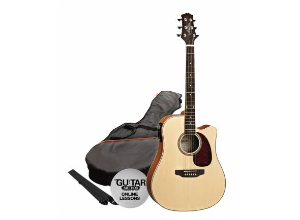 Guitarra Acústica/Guitarras Dreadnought Ashton SPD25CEQ Pack NT - Natural Mate