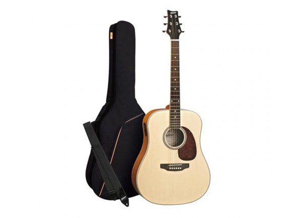 Pack de Guitarra Acústica/Guitarra Acústica Ashton SPD25NTM
