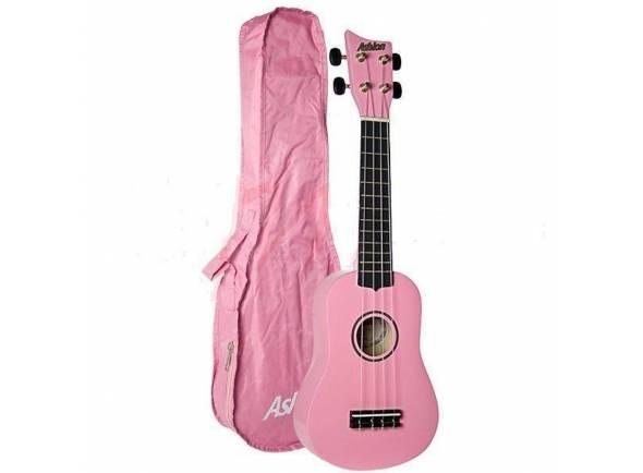 Ukulele Ashton UKE100 PK - Pink  Ukulele UKE100 Rosa com Saco