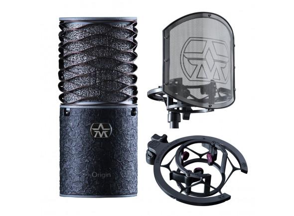Microfone de membrana grande Aston Microphones   Origin Black Bundle