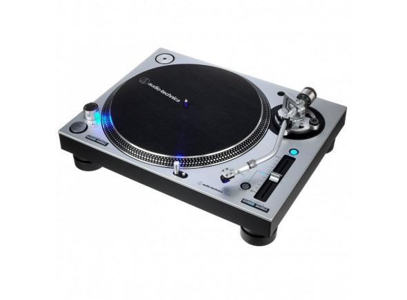 Gira-Discos Profissional para DJ/Gira-discos profissionais de Dj Audio Technica AT-LP140XP Silver