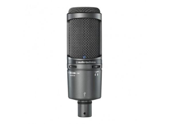 Microfone de Estúdio/Microfone de membrana grande Audio Technica AT2020 USB+