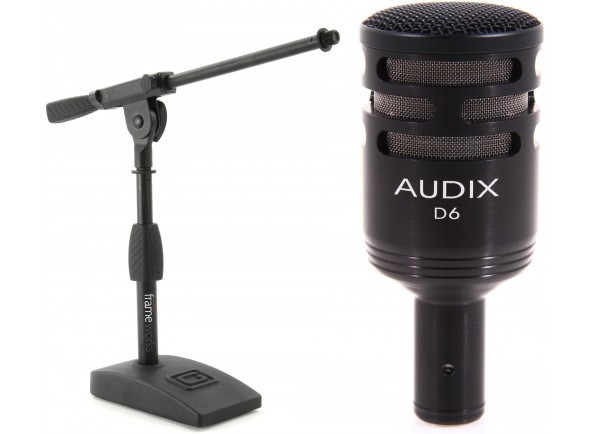 Conjunto de microfones para bateria Audix D6 Bundle