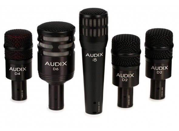 Conjunto de microfones para bateria Audix DP5-A Drum Microphone Set