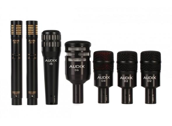 Conjunto de microfones para bateria Audix DP7 Drum Microphone Set