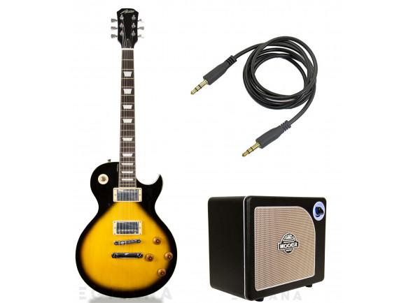 Guitarras formato Single Cut Austin  AS6 Super 6 Tobacco Sunburst Pack