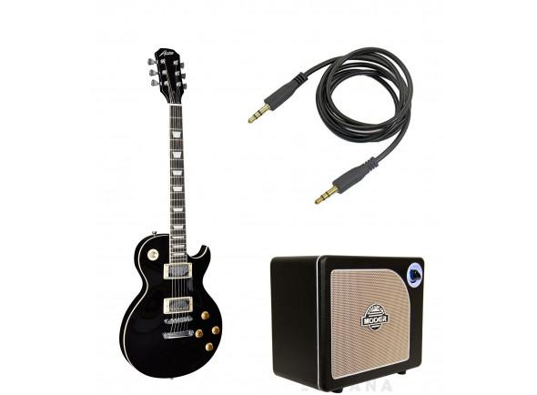 Packs de guitarra  Austin AS6P Super 6 Black Pack