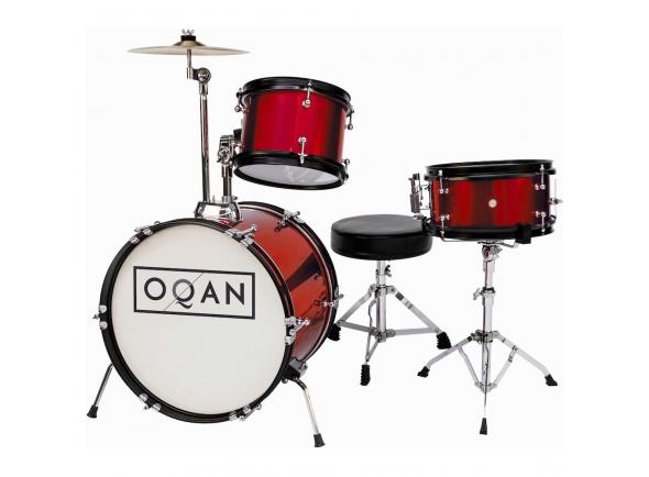 bateria acústica/Conjunto de bateria completo Bateria acústica OQAN INFANTIL RED QPA-3