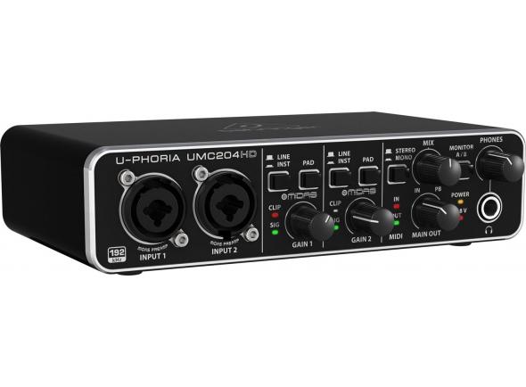 Ver mais informações do  Behringer Interface Audio USB UMC204HD