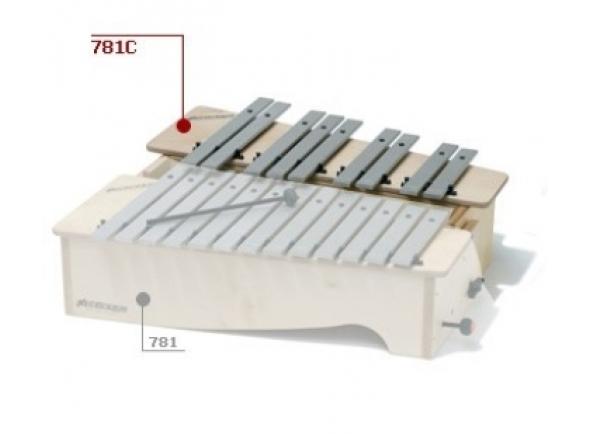 Instrumento Orff Bliss 781/C Metalofone Alto Cromático