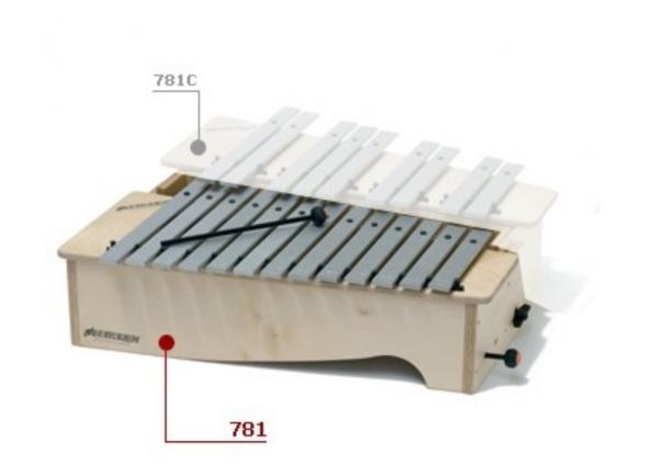 Instrumento Orff Bliss Metalofone Alto Diatónico