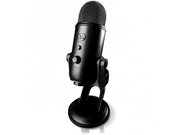 Microfone de membrana grande Blue Yeti Studio Blackout