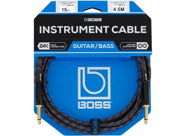 Cabo para guitarra/Cabo para Instrumento BOSS BIC-15 Jack 4.5m